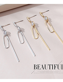 Fashion Platinum Real Gold Plated Earrings