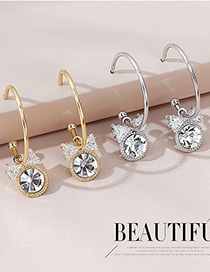 Fashion K Gold Real Gold Plated Bow Earrings