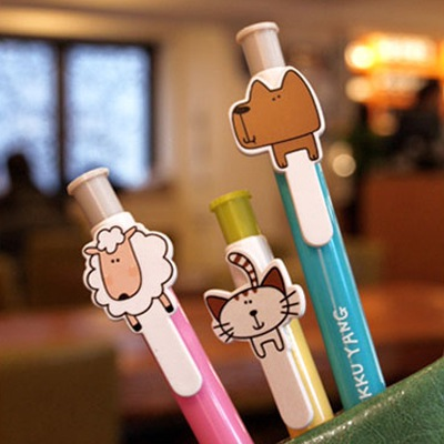 Boutique Color Will Be Random Cute Cartoon Design Plastic Writing Pens