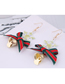 Fashion Pink Snowflake Bow Bell Christmas Series Earrings