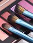 Fashion Sapphire Blue 14 Stick Makeup Brush