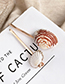 Fashion Gold Alloy Pearl Shell Hair Clip Set