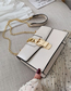 Fashion Creamy-white Shoulder Messenger Chain Bag