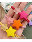 Fashion Rose Red Scrub Stars Hit The Color Hair Ring