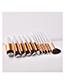 Fashion White 12 Packs - Five Big Five Small Fan-shaped Makeup Brushes