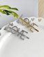 Fashion Ab Color Alloy Diamond Letter Love Word Hairpin