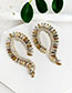 Fashion Lake Green Alloy Studded Geometric Earrings