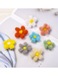 Fashion White Wool Flower Hair Clip Wool Flower Hairpin Candy Color Duckbill Clip