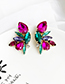 Fashion Purple Alloy Studded Geometric Earrings