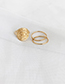 Fashion Golden Alloy Green Dripping Totem Ring Set