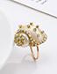 Fashion Golden Alloy Diamond Conch Ring Set
