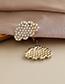 Fashion Pearl Alloy Pearl Diamond Cloud Stud Earrings