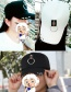 Fashion Black Circular Ring Decorated Pure Color Simple Baseball Cap
