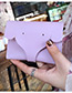 Lovely Pink Elephant Shape Decorated Pure Color Wallet
