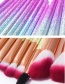 Fashion Purple Sector Shape Decorated Makeup Brush (16 Pcs)