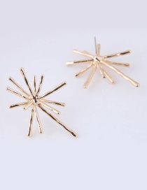Fashion Gold Color Starfish Shape Decortaed Earrings