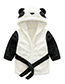 Lovely White Panda Shape Decorated Children Bathrobe
