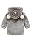 Lovely Gray Mouse Shape Decorated Children Bathrobe