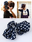 Lovely Red+dark Blue Dot Pattern Decorated Bowknot Hair Band
