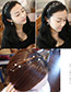 Fashion Silver Color Double Layer Design Hairband