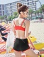Sexy Red Letter Pattern Decorated Sport Swimwear(3pcs)