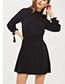 Fashion Black Spot Shape Decorated Dress