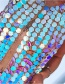 Fashion Multi-color Sequins Decorated Bady Chain