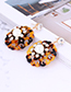 Elegant Apricot Hollow Out Flowers Decorated Earrings