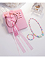 Lovely Pink Rabbits Decorated Child Jewelry Sets