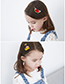 Lovely White+yellow Banana Shape Design Child Hair Clip