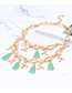 Fashion Green Geometry Shape Decorated Necklace