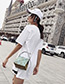 Fashion White Lace Design Square Shape Shoulder Bag