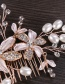 Elegant Gold Color Flowers&pearls Decorated Hair Comb