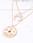 Fashion Gold Color Hollow Out Design Necklace