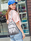Fashion Gray Pure Color Decorated Travel Knapsack