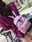 Fashion Silver Color Badge Decorated Leisure Travel Bag