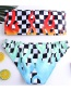 Fashion Multi-color Grid Pattern Decorated Swimwear