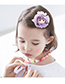 Fashion Pink Girl Shape Decorated Paillette Hair Clip