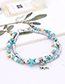 Fashion Blue Anchor&starfish Decorated Double Layer Bracelet