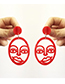 Fashion Red Hollow Out Design Earrings
