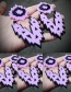 Fashion Purple Hollow Out Design Pure Color Earrings
