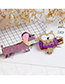 Fashion Purple Dog Shape Decorated Hair Clip
