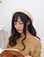 Fashion Light Coffee Round Shape Design Pure Color Hat