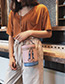 Elegant Pink Double Zippers Decorated Bucket Shape Bag