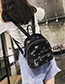 Trendy Silver Color Star Shape Pattern Decorated Backpack