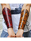 Fashion Brown Flowers Pattern Decorated Wrist Guard