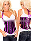 Fashion Red+black Stripe Pattern Decorated Corset
