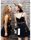 Fashion Black+white Round Shape Design Color Matching Earrings