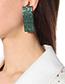 Fashion Green Full Diamond Decorated Earrings
