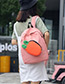 Fashion Pink Radish Pattern Decorated Backapck